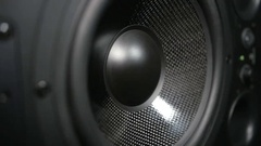 Moving black sub-woofer Stock Footage