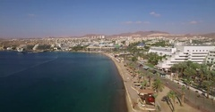 Eilat, Israel's Red beachfront hotels Stock Footage