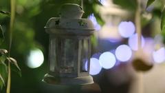 Clay illuminator in the evening Stock Footage