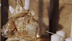 4K Close-up of a candle flame. 4K Close-up of a candle flame. Beautiful white Stock Footage
