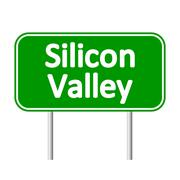Silicon Valley green road sign Piirros