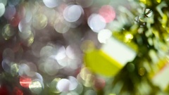 Christmas Decorations on abstract background (soft focus) Stock Footage