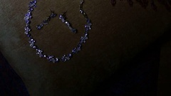 Jewellery shop, Beautiful pendant with diamond on chain overview, a gold chain Stock Footage