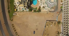 Luxury hotel resort - top shot from air Stock Footage