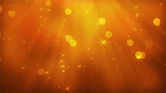 Shiny Golden Lights With Bokeh And Stars Stock Footage