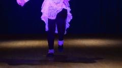 Dancing rhythmically on the floor Stock Footage