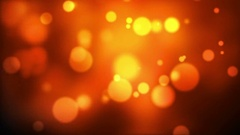 Golden Bokeh Lights Abstract Background Stock Footage