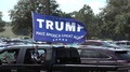 A Large Donald Trump Flag On Pick Up Truck Dade Cty Florida Nov 1, 2016 4k or 4k+ Resolution