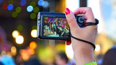 4K Music Festival Concert, Camera Handheld, Crowd and Music Stock Footage