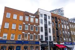 Old brick buildings at Southwark Stock Photos