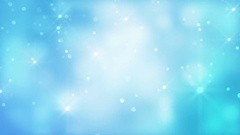 Glittering Bokeh And Stars On Blue Background Stock Footage
