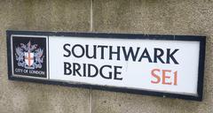 Street sign Southwark Bridge SE1 Stock Photos
