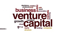 Venture capital animated word cloud Stock Footage