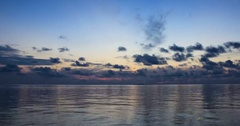 Time lapse of tropical island sunrise Stock Footage
