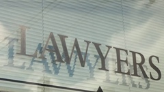 Lawyers sign with shadows Stock Footage