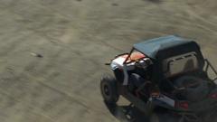 A Polaris RZR ATV as it drives fast beside camera. Stock Footage