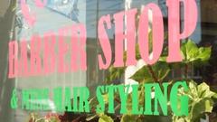 Barber shop sign Stock Footage
