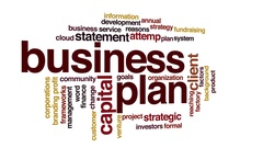 Business plan animated word cloud. Stock Footage