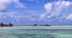Time lapse of kapalai island resort Stock Footage
