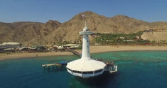 The Underwater Observatory in Eilat Stock Footage