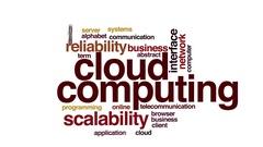 Cloud computing animated word cloud Stock Footage
