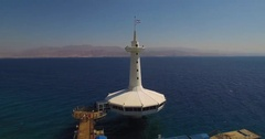 The Underwater Observatory in the red sea  Eilat  Stock Footage