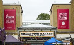 The Original Greenwich Market in London Greenwich Stock Photos