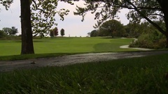 Fairway and cart path Stock Footage