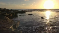 A scenic sunset on the coast of California. San Diego. Stock Footage
