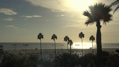 A scenic sunset on the coast of California. Los Angeles. Stock Footage