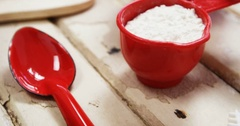 Spatula, dessert toppings, cookie cutter and various christmas accessories Stock Footage