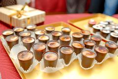 The abundance of a variety of sweets catering service sweet table Stock Photos