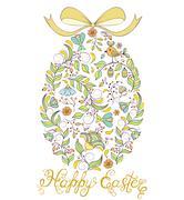 Easter egg on white background Stock Illustration