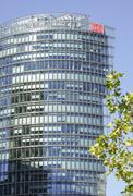 Deutsche Bahn headquarter in Berlin Potsdamer Platz Stock Photos
