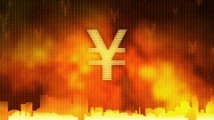 Yen sign rotating. World economy, money circulation, business, stock market Stock Footage