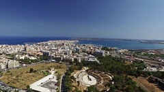 Modern City near Old Ancient Greek Ruins Stock Footage
