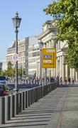 Street view of Ebertstrasse in Berlin at Brandenburg Gate Stock Photos