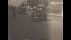 Vintage 16mm film, 1930, Detroit, driving the ambassador bridge #1, rare early Stock Footage