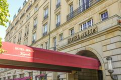 Famous and expensive hotel Adlon Kempinski in Berlin Stock Photos