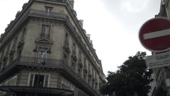 Paris haussmannian buildings viewed from a car Stock Footage