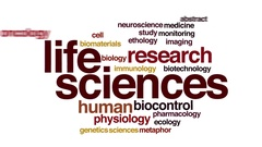 Life sciences animated word cloud Stock Footage