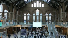 London Liverpool Street Station Commuters Building and Architecture 4K Stock Footage