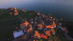 European country side scenic aerial panorama Stock Footage