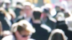 Crowd of  unrecognizable people Stock Footage