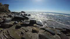 The picturesque coast of the Pacific ocean off Los Angeles. Stock Footage
