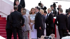 Charlize Theron, Javier Bardem, Adèle Exarchopoulos on red carpet Stock Footage