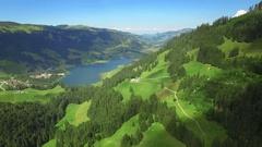 4K Beautiful Switzerland aerial shot Stock Footage