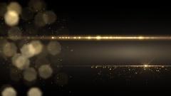 Golden light intro, frame, background. Stock Footage