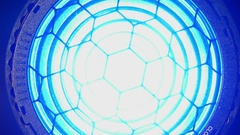 Lighting equipment, flash or spotlight. Close up. Stock Footage