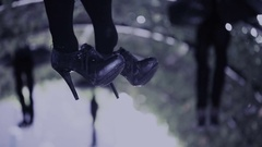 Halloween. legs hanging girl. suicide Arkistovideo